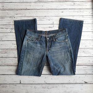 7FAM Bootcut Trendy Medium Wash Short Size 28